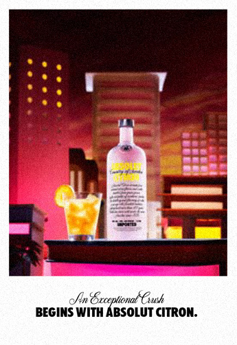 An Exceptional Crush begins with Absolut Citron